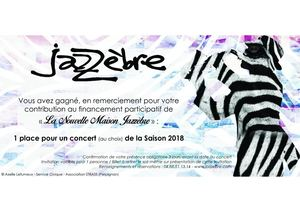 Jazzèbre - Invitation Saison