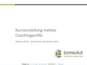 tomsolut | COACHING & CONSULTING | Coach in Mannheim