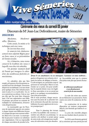 JOURNAL MUNICIPAL SEMERIES JANVIER 2018