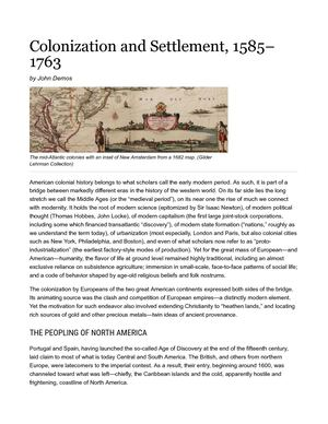 Colonization And Settlement, 1585–1763 _ The Gilder Lehrman Institute Of American History