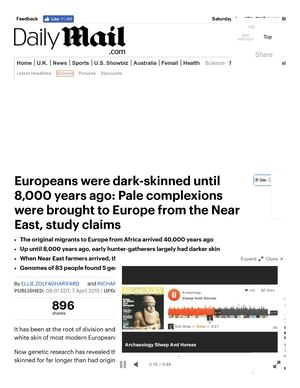 Europeans Were Dark Skinned Until 8,000 Years Ago _ Daily Mail Online