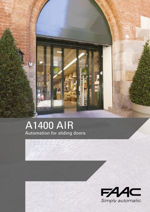 A1400 AIR Automations for Sliding Doors EN