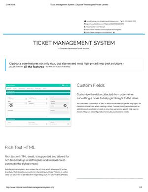 Ticket Management System Clipboat Technologies Private Limited