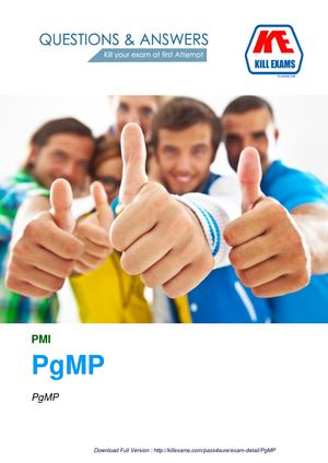 PMI PgMP Dumps and Practice Tests with Real Questions