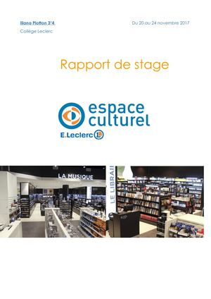 Rapport de stage Iliana Plotton