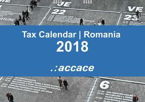 2018 tax calendar romania