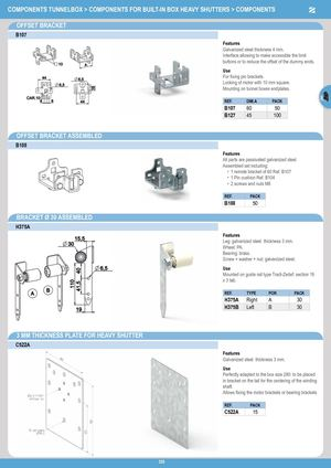 Eng Components For Built In Box Heavy Shutters