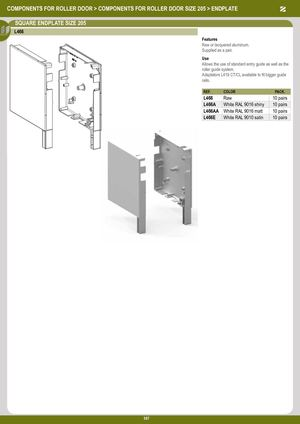 Eng Components For Roller Door Size 205 Sous Famille