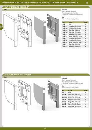 Eng Components For Roller Door Size 250 300 360 Sous Famille
