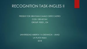 Recognition Task Ingles