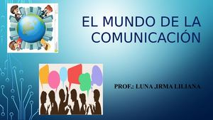 Power Point Plan De Clase N° 1 El Mundo De La Comunicacion