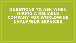 Questions To Ask When Hiring A Reliable Company