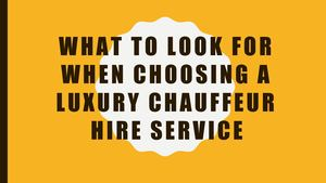 What To Look For When Choosing A Luxury