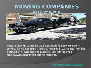 Moving Companies Niagara