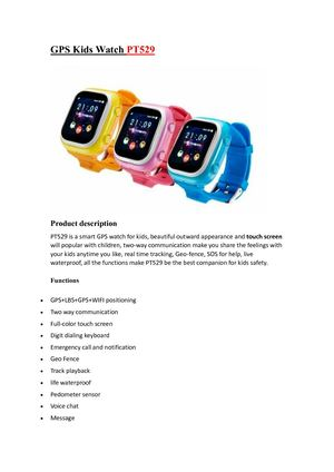 PT529 GPS watch for Kids – Keep your little ones close to you