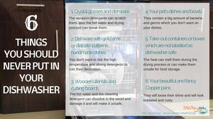 Things you should never put in your dishwasher