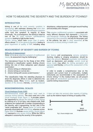 Medical Letter How To Measure The Severity Of Itching 0