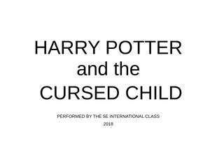 Harry Potter Play Performance