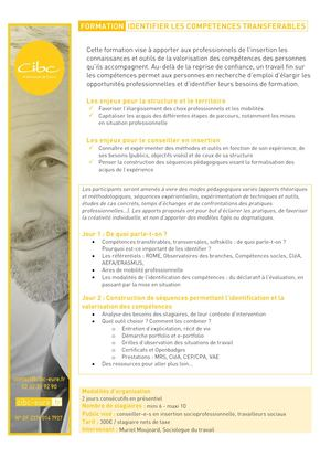 FORMATION COMPETENCES TRANSFERABLES
