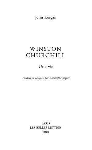 Extrait : Keegan - Winston Churchill