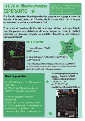 Flyer film esperanto