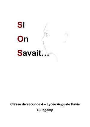 Si On Savait Lycée Pavie Guingamp