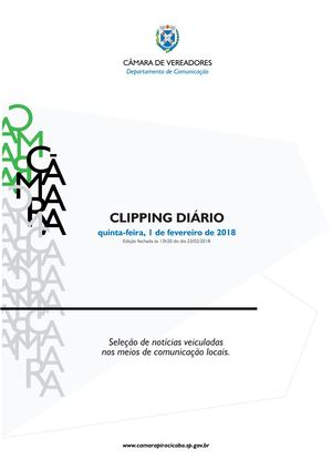 1/02/2018 - Clipping Câmara de Piracicaba