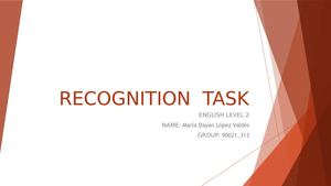 Recognition Task Ingles 2