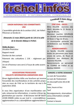 journal municipal frehel.info du 2 Mars 2018