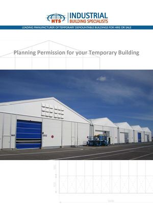 Temporary Buildings Planning Permission
