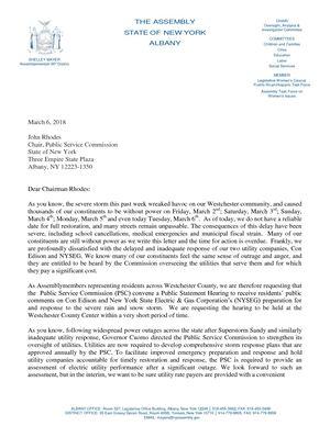 Delegation Letter | Calameo 03 06 3018 Nys Assembly Westchester Delegation Letter