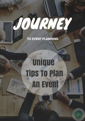 Unique Tips To Plan An Event
