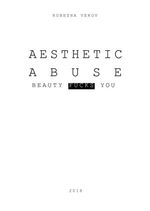 Aesthetic Abuse by Rubezha Vekov (Russian version)