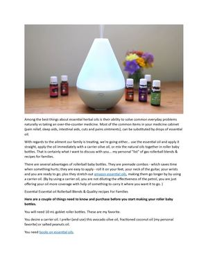 List Essential Oils