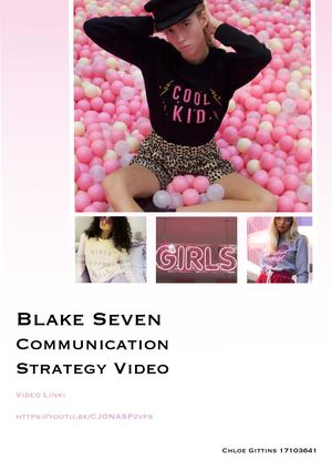 Blake Seven Communication Strategy