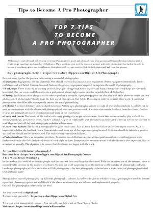 Top 7 Tips To Become A Pro Photographer