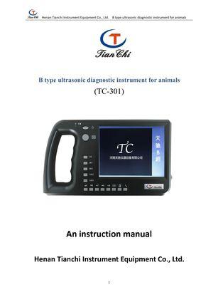 Calamo Instructions For Tianchi Animal B Ultrasound Tc 301