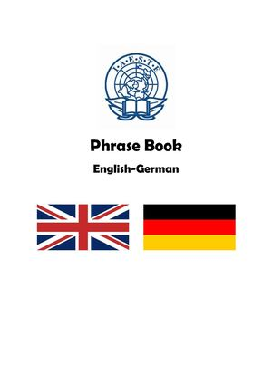 Phrase Book English-German