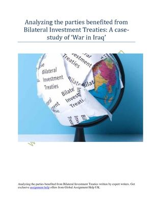 Bilateral Investment Treaties And Its In Depth Analysis