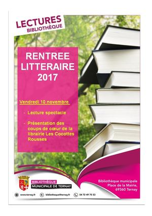 Rentree Litteraire 2017