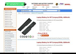 Laptop Battery for HP Compaq 6530b