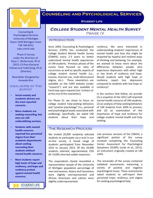 College Student Mental Health Survey: Phase IV