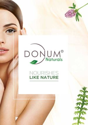 Donum Naturals Brochure Of Skin care & Hair Care Products