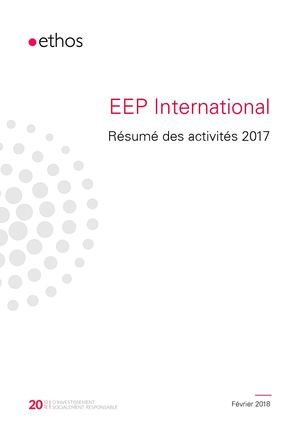 Rapport EEP International 2017