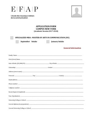 Application File Mba NY