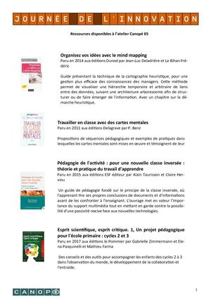 Biblio - Journée de l'innovation