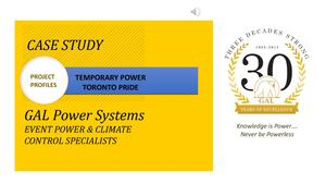 GAL Power – A Case Study of Temporary Power Solutions for Toronto Pride