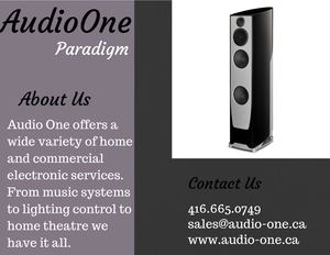 Paradigm Speakers Vaughan | Bowers & Wilkins Speakers For Sale | Audio One