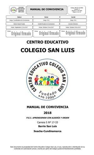 Calaméo - Manual De Convivencia 2018
