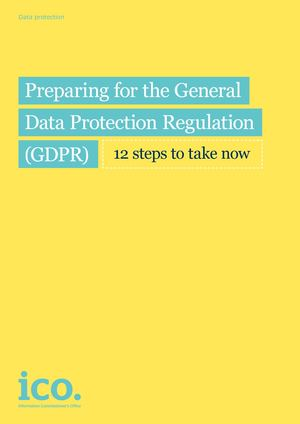 Preparing For The Gdpr 12 Steps Icos Sourced